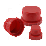 MOCAP - Threaded Plastic Plugs for Flat-Faced O-Ring Fittings