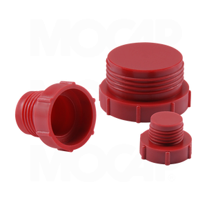 Threaded Plastic Plugs for Inverted Flared Fittings
